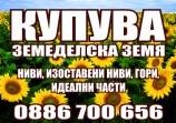 Обява Купувам Зем. Земя в СВИЩОВ, ПАВЛИКЕНИ, П.ТРЪМБЕШ!!!!