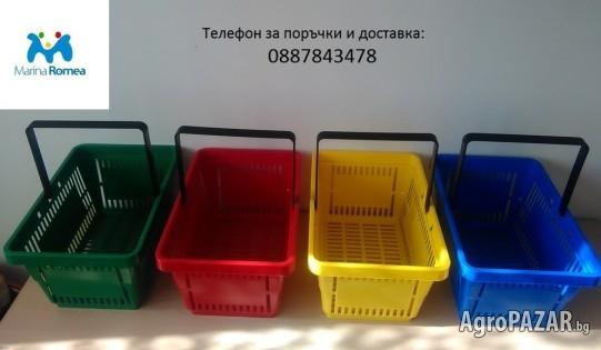 Продавам пазарски кошници за магазини