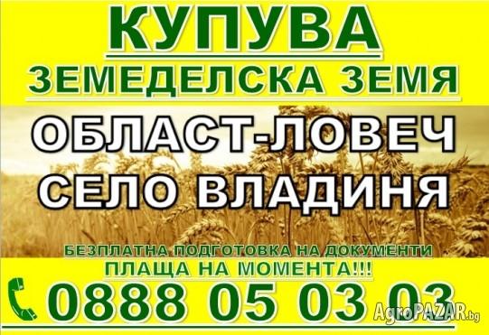 Купува Земеделска земя област, Ловеч, Плевен