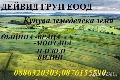 Дейвид ГРУП ЕООД -купува земеделски земи
