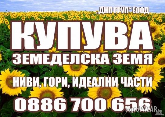 Купувам Земя! РУСЕ, СИЛИСТРА, ТУТРАКАН! Високи цени!!!