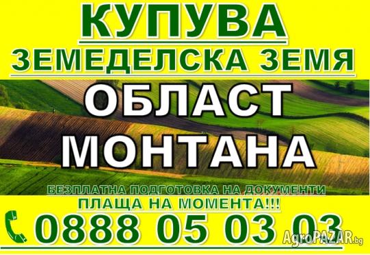 КУПУВА  ЗЕМЕДЕЛСКА ЗЕМЯ ОБЛАСТ МОНТАНА-град ЧИПРОВЦИ